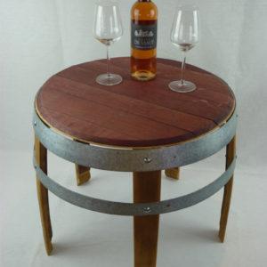 Table basse à 5 pieds en douelle de barrique